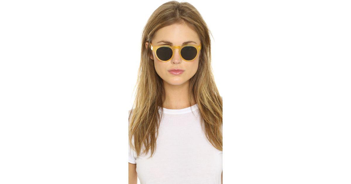 521533693a660 Illesteva Leonard Sunglasses - Blonde black in Yellow - Lyst