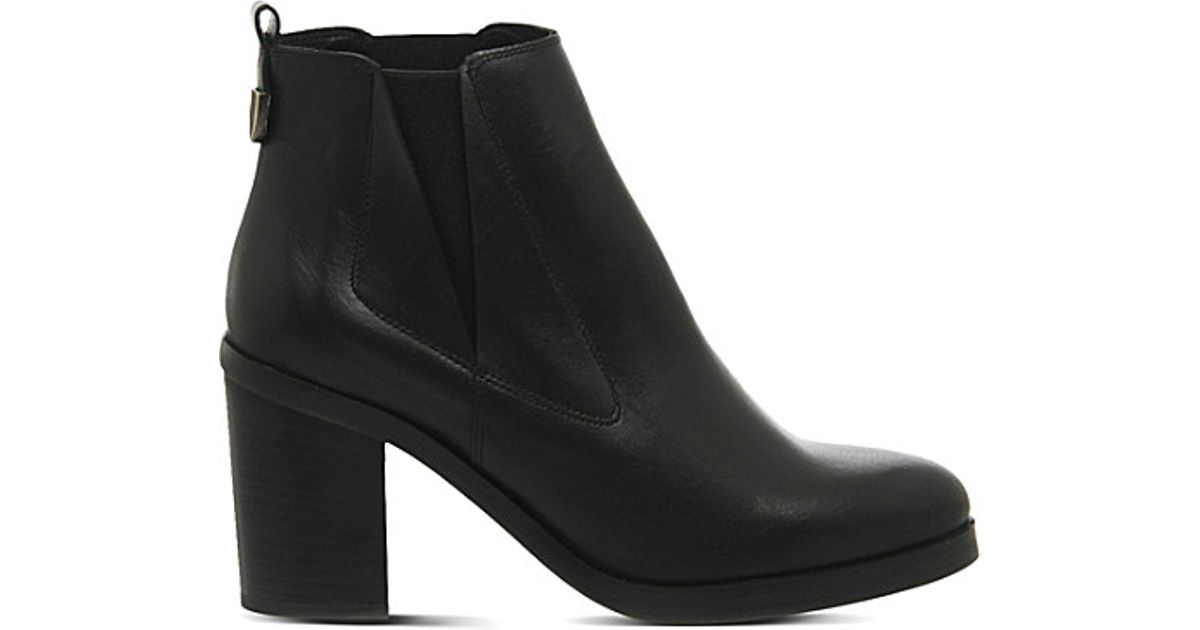 office illusion leather chelsea boots in black lyst