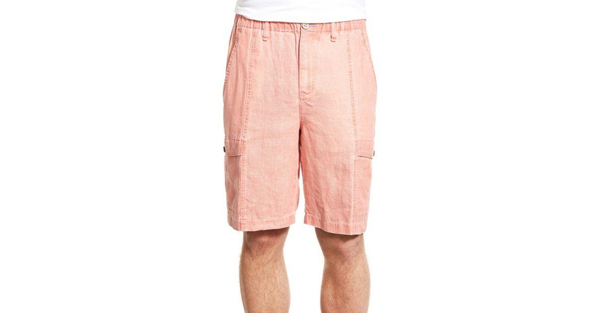 b68543b1b2 Lyst - Tommy Bahama 'summerlands' Linen Cargo Shorts in Orange for Men
