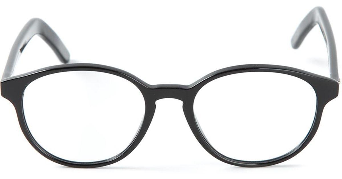 Cutler & gross Round Frame Optical Glasses in Black Lyst