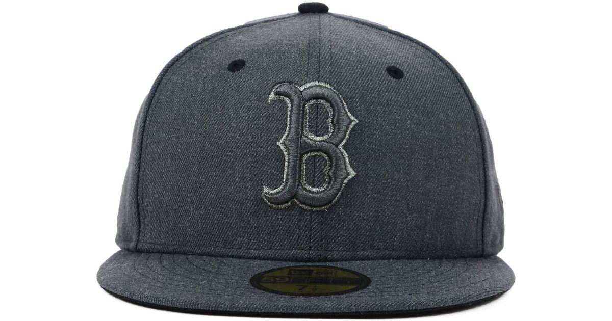 best website 2b80e 85cd3 ... buy lyst ktz boston red sox mlb graphite heather 59fifty cap in gray  for men 15382