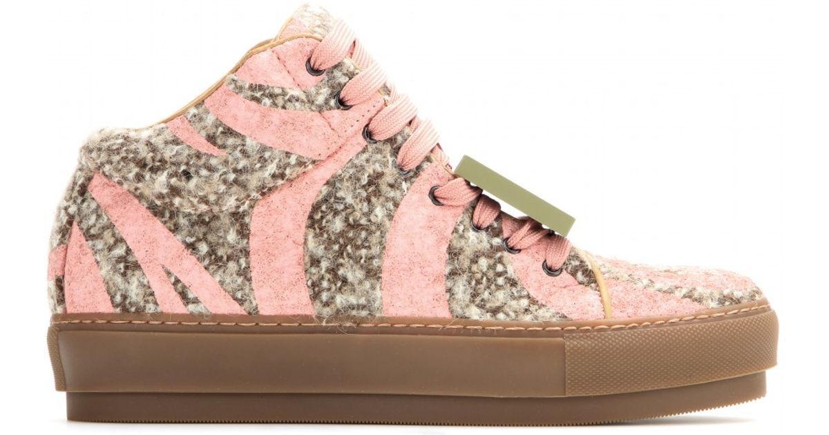 Acne Studios Cleo Tweed Sneakers cheap free shipping JWb85032J