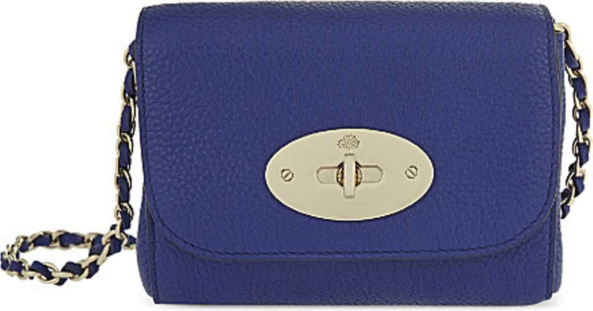 4ef50d5f39c8 Mulberry Mini Lily Leather Shoulder Bag in Blue - Lyst