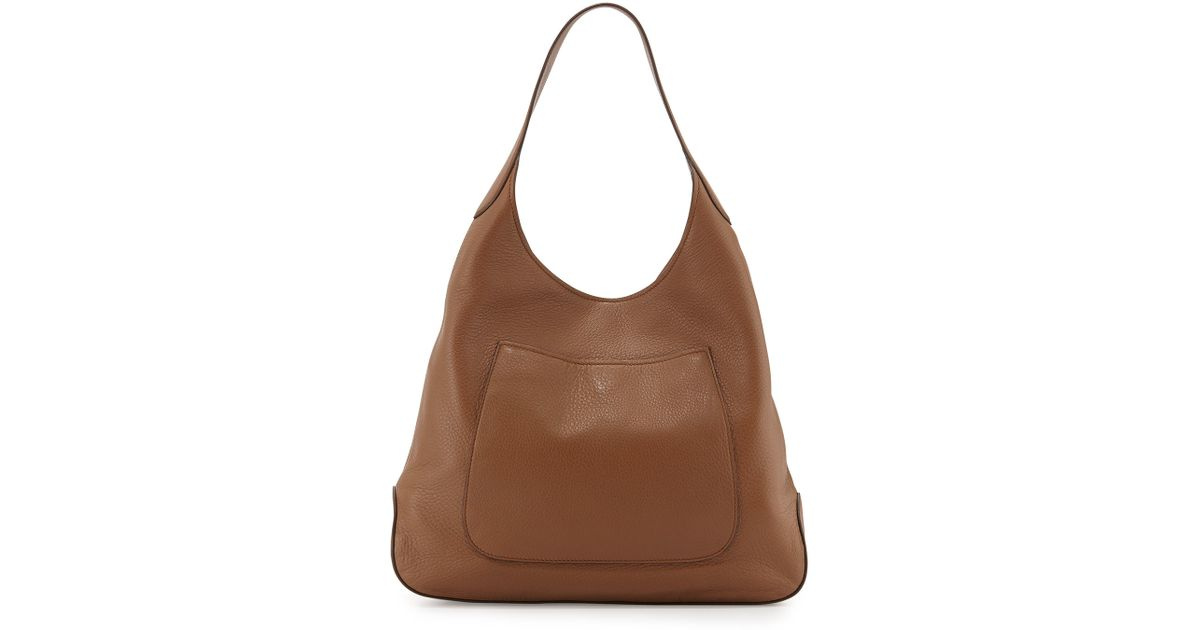 Prada Cervo Front Pocket Hobo Bag in Brown | Lyst