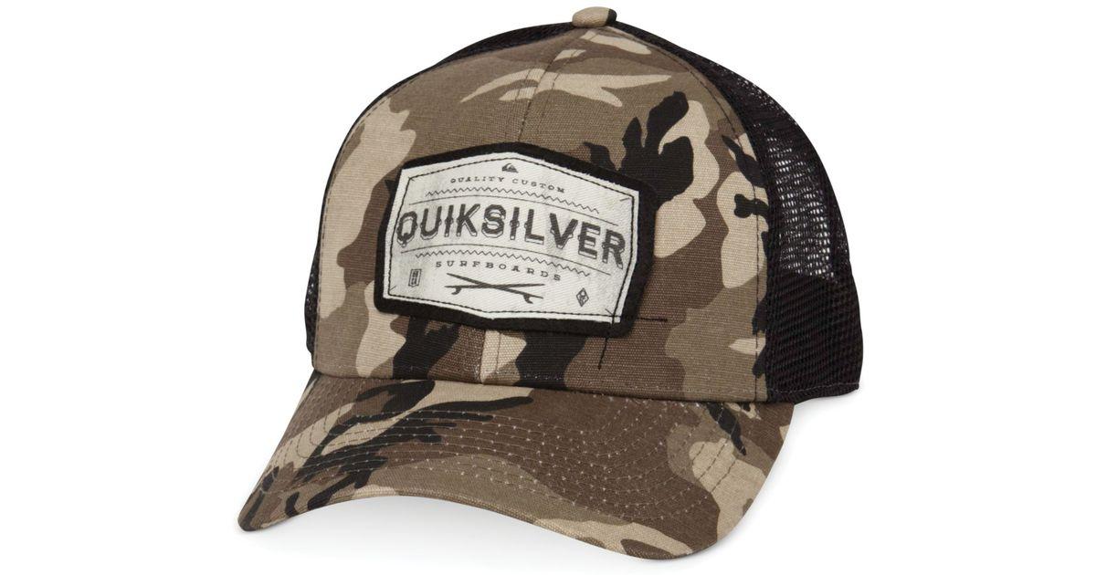 Lyst - Quiksilver Weeks Trucker Hat in Brown for Men ef6c89767c4