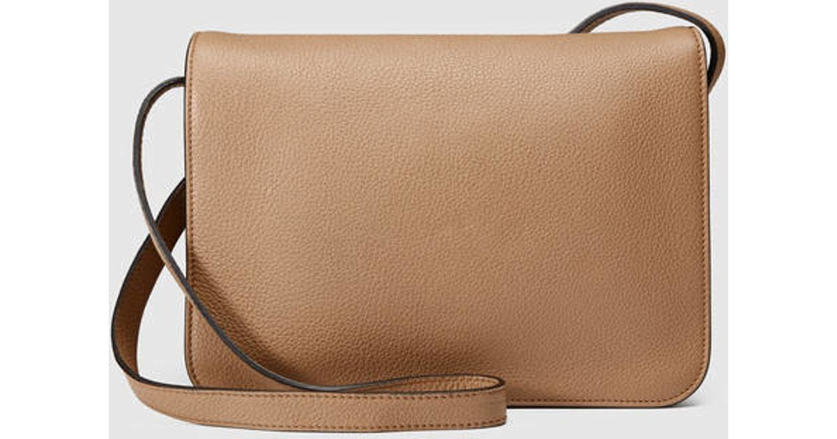 aed12146c9c Lyst - Gucci Jackie Soft Leather Shoulder Bag in Natural