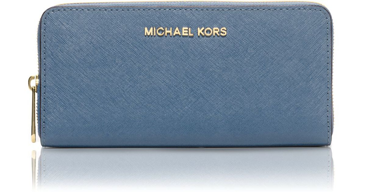 521d4347bf18 Lyst - MICHAEL Michael Kors Continental Wallet in Blue