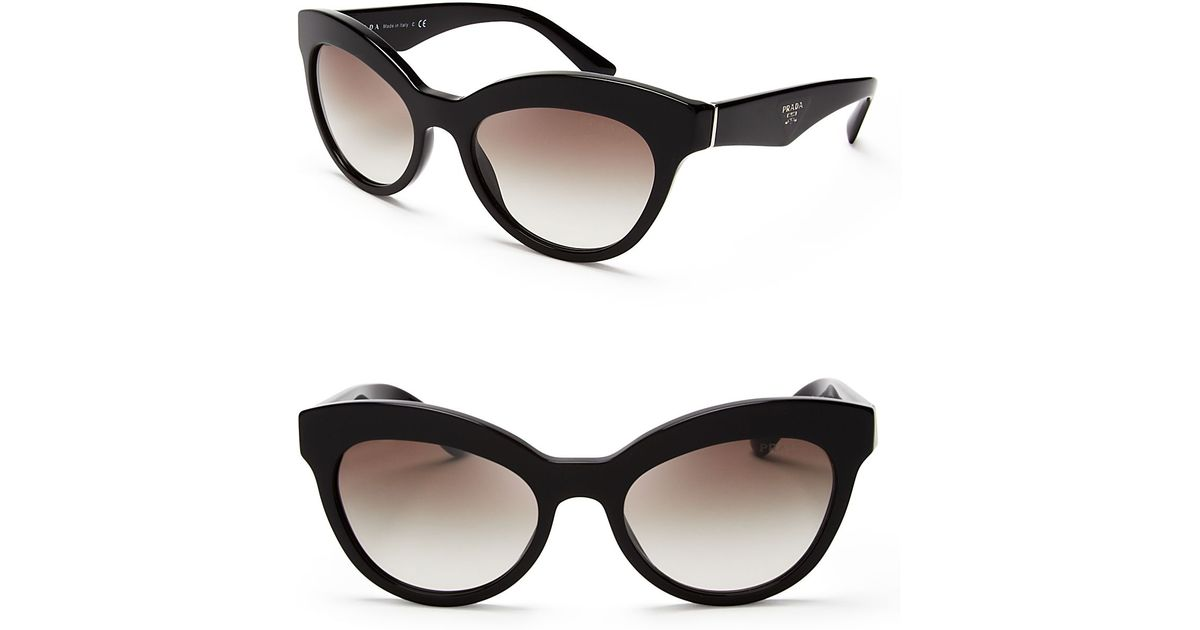 fb955a3f1a5 ... spain lyst prada heritage cat eye sunglasses in black 72b55 a9f36