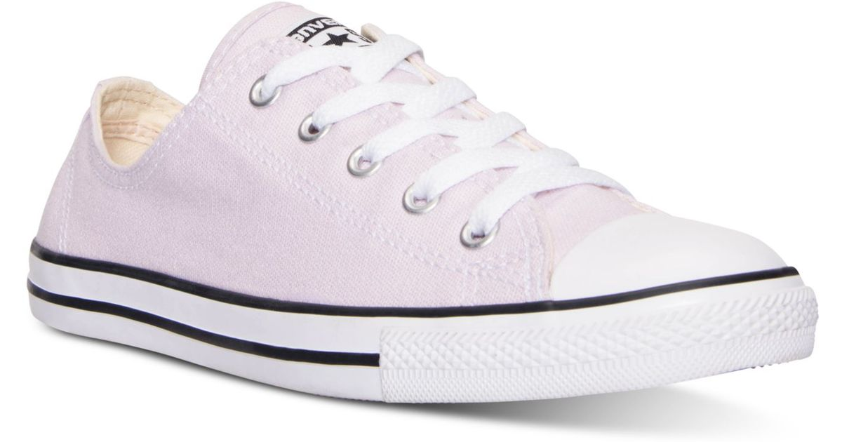 0765061cfa5 Lyst - Converse Women s Chuck Taylor Dainty Casual Sneakers From Finish  Line in Purple