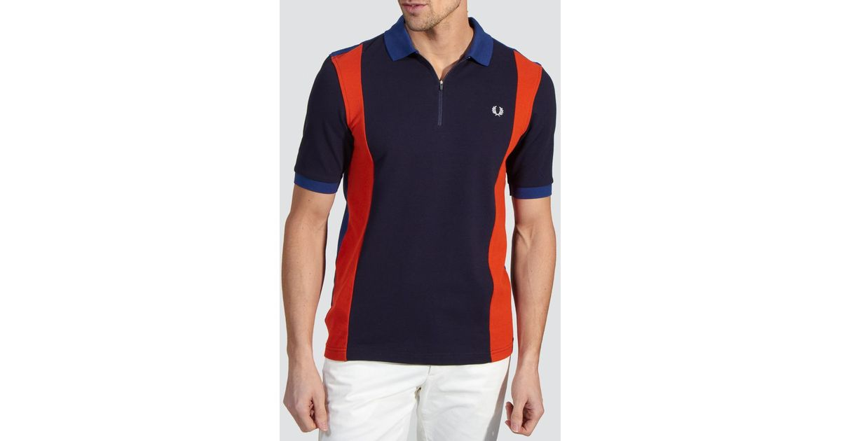 Lyst - Fred Perry Bradley Wiggins Cycling Polo Shirt in Blue for Men 46276466b