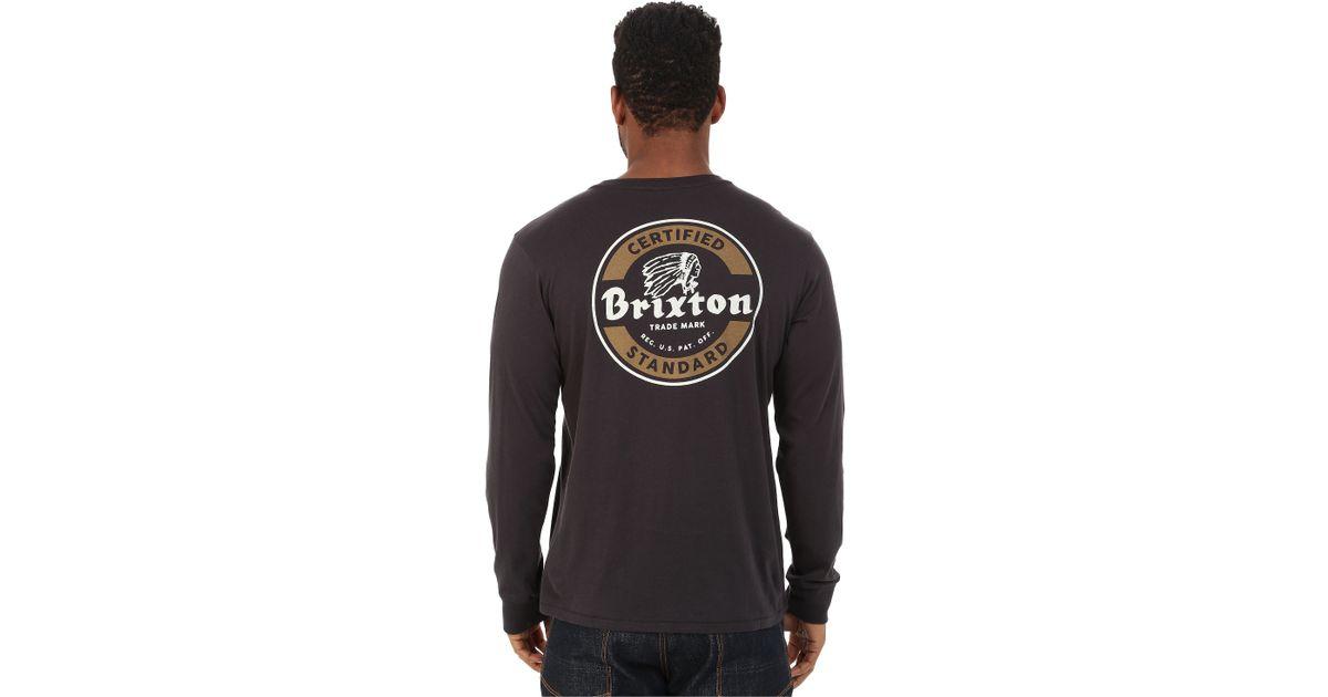 c1d0f45dc Brixton Soto Long Sleeve Premium Tee in Black for Men - Lyst