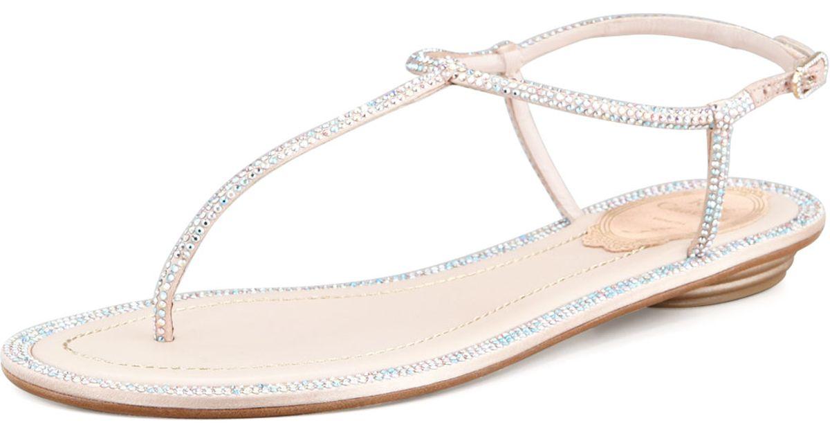 2014 for sale René Caovilla Crystal Thong Sandals Inexpensive CfJ1AF