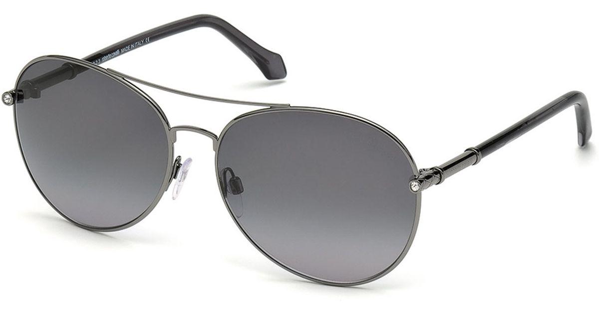 0d2382966cb Lyst - Roberto Cavalli Anser Metal Aviator Sunglasses in Metallic