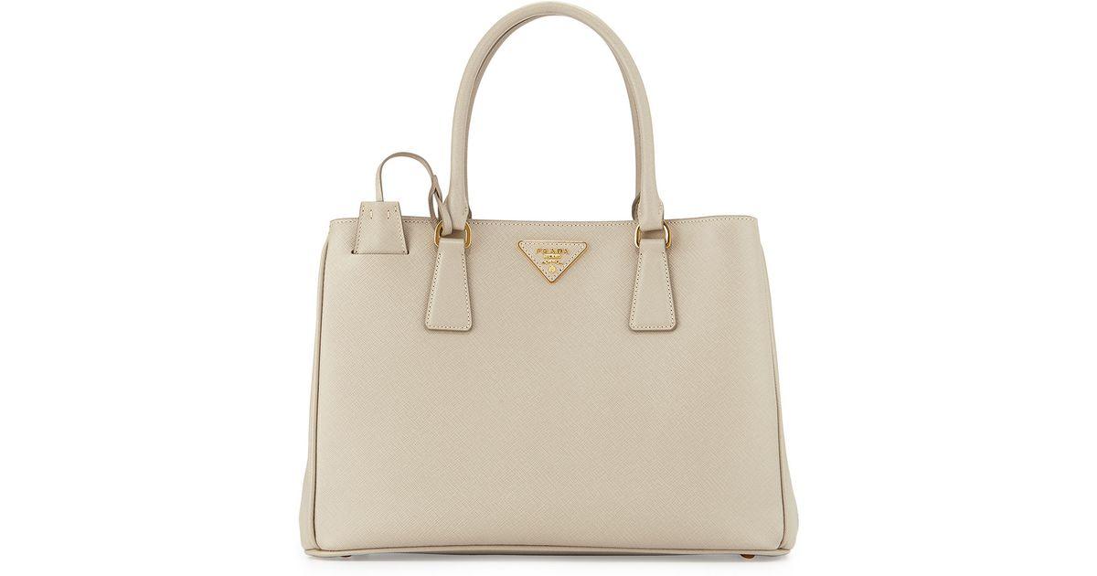 dccf58e5507d ... sweden lyst prada saffiano lady tote bag in gray 1ca89 8b71e