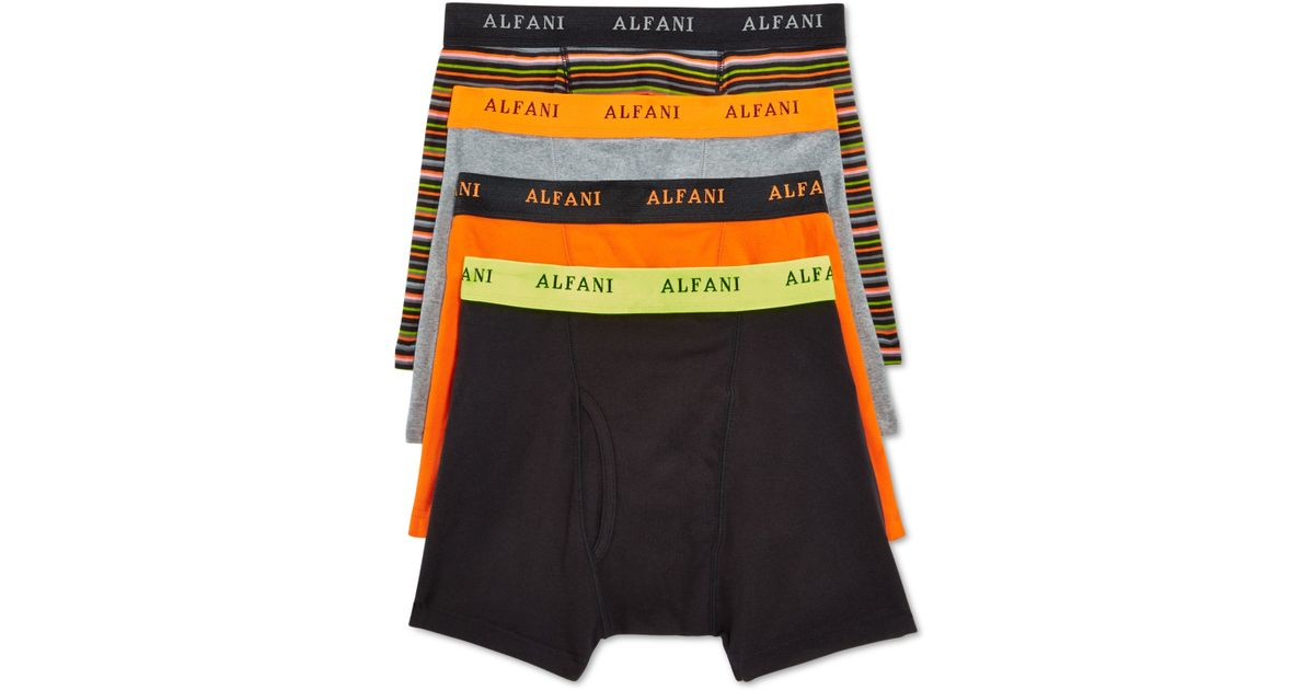 Alfani Mens Tagless Knit Boxer Briefs 4 pack Only At