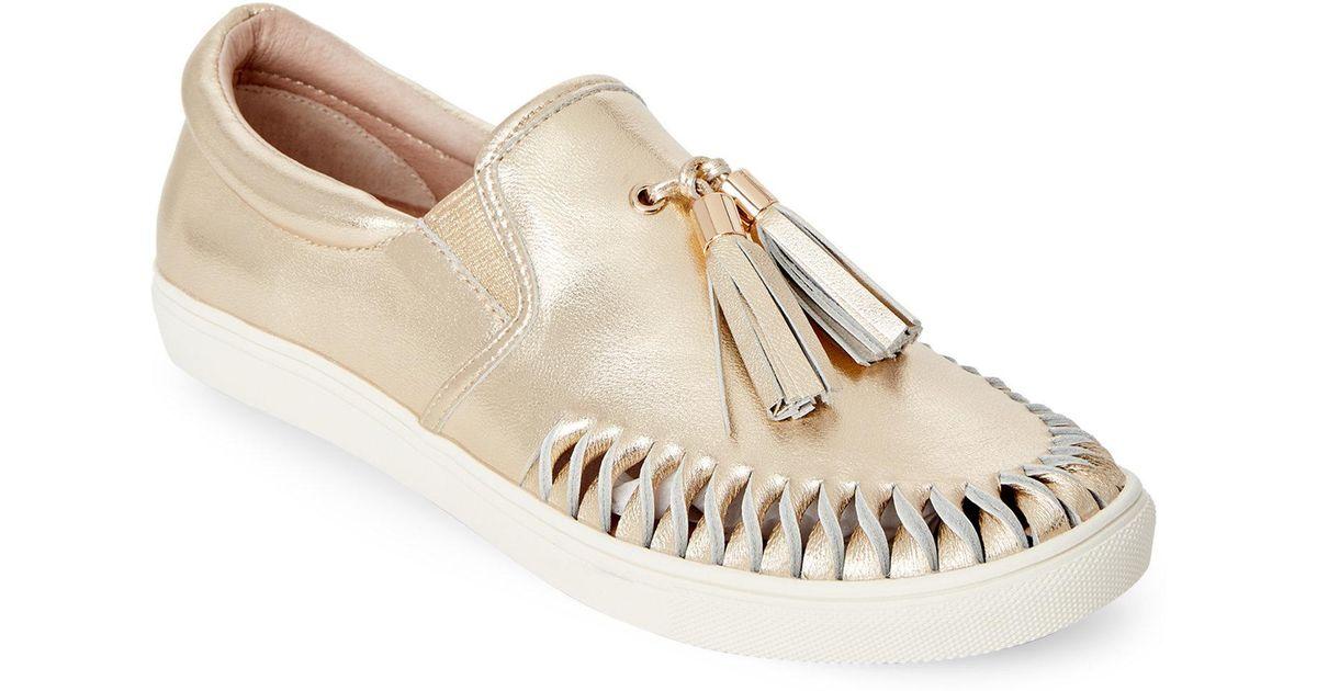 Lyst In Cheyenne Tasseled On Sneakers Slip Metallic Gold Jslides 4Lq3AjR5c