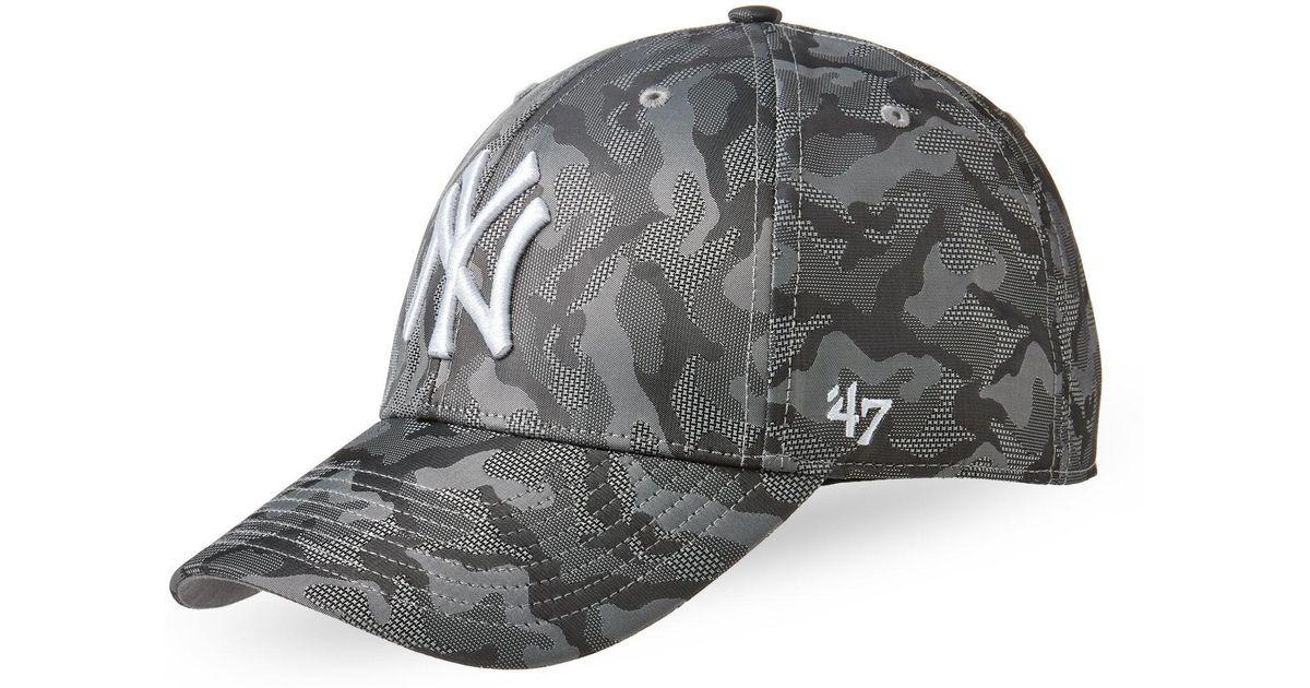 0757860864f ... australia lyst 47 brand camo new york yankees baseball cap in gray for  men 81e80 ed405