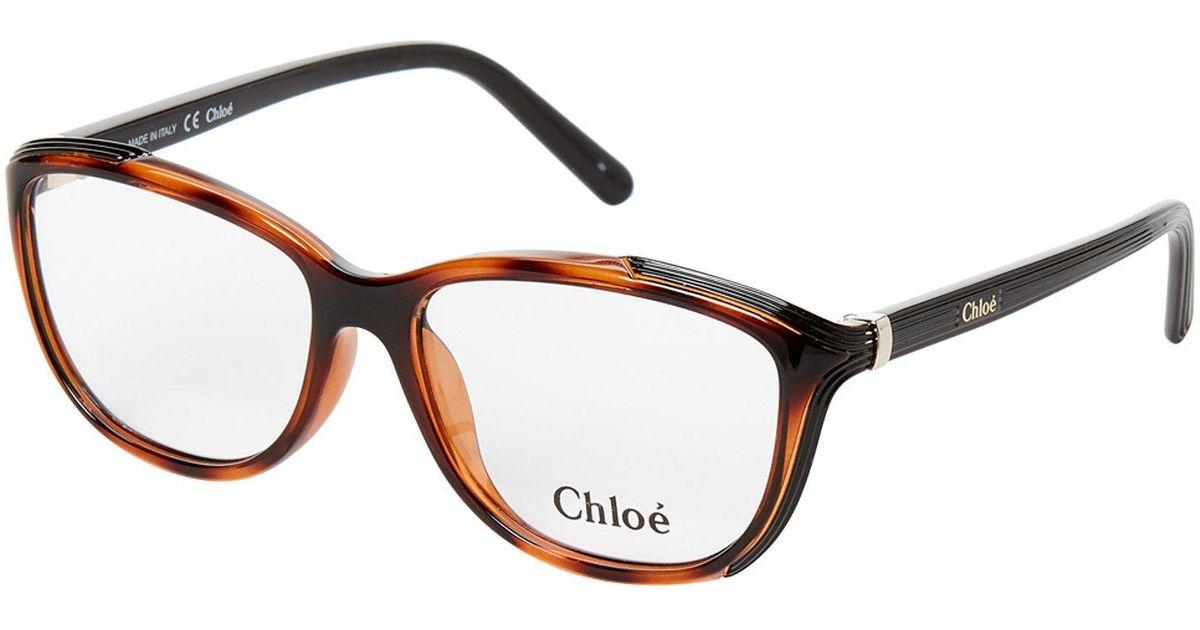 bd30c35b4b16 Lyst - Chloé Ce2648 Rectangular Optical Frames in Brown