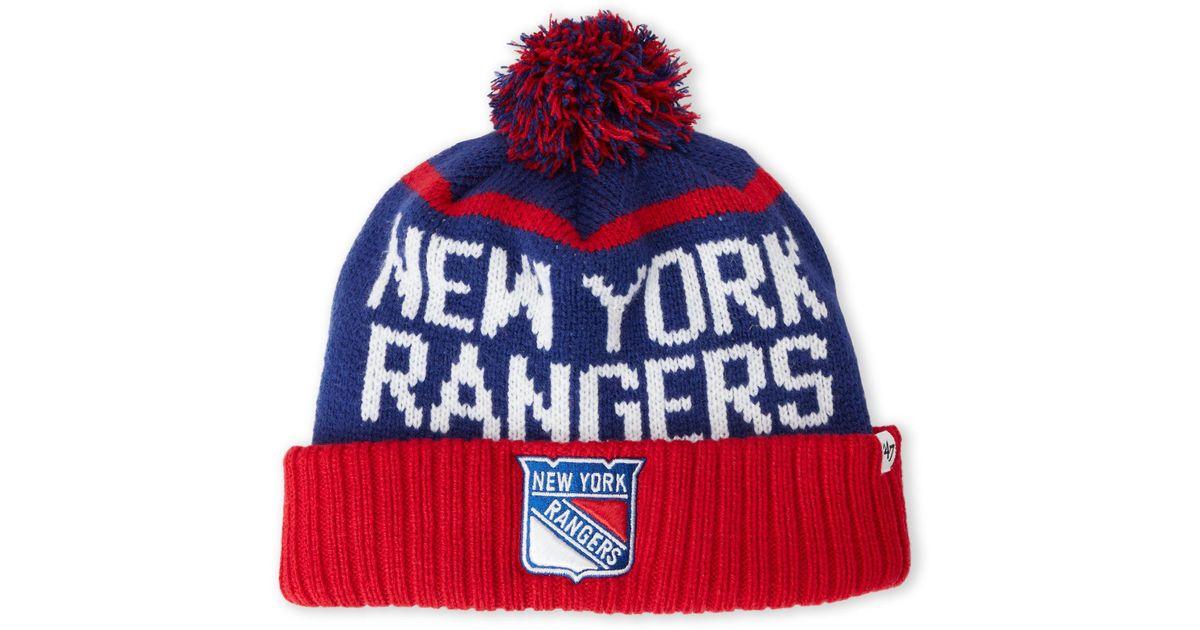 Lyst - 47 Brand New York Rangers Pom-Pom Linesman Knit Hat in Red for Men ab588613416