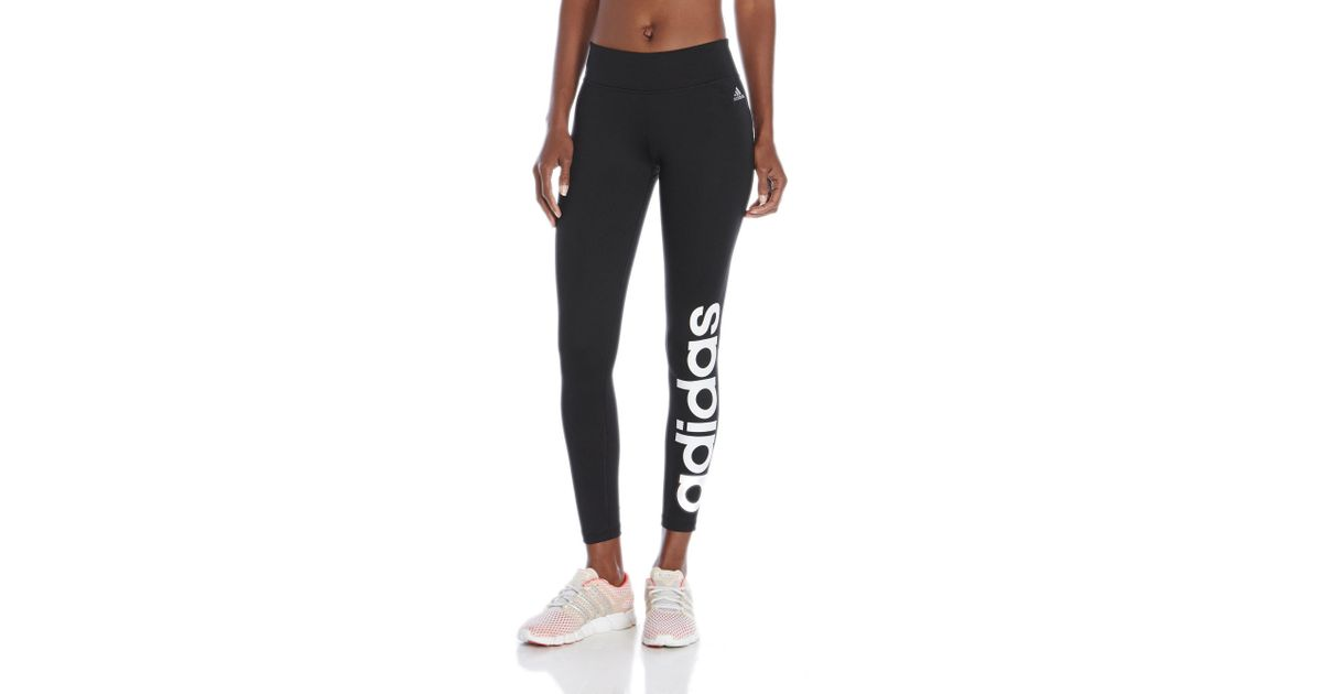 d24c141c5b2bf Lyst - adidas Originals Linear Logo Leggings in Black