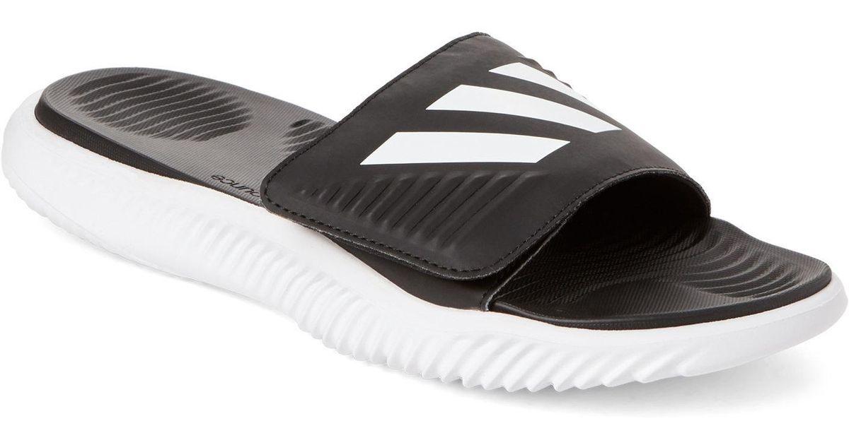 ba2924f753f Lyst - adidas White   Black Alpha Bounce Slide Sandals in Black for Men
