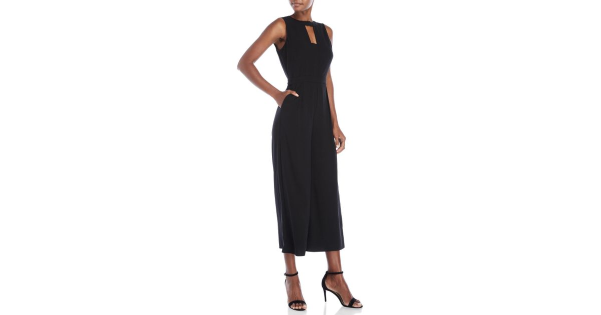 f3001a9fb8f Lyst - Laundry by Shelli Segal Keyhole Culotte Jumpsuit in Black
