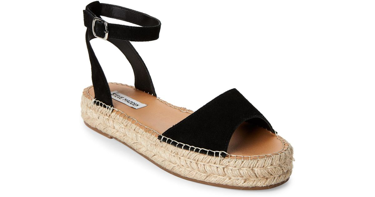 9f7b2048be2 Lyst - Steve Madden Black Irys Platform Espadrille Sandals in Black
