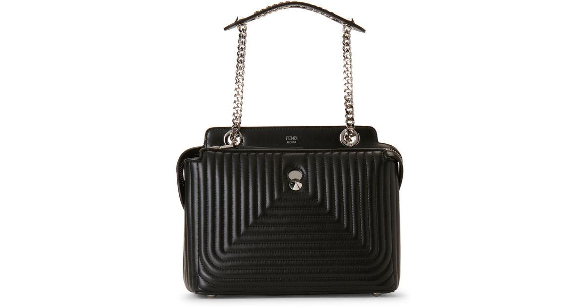 c13b0e20894b ... canada lyst fendi dotcom click leather shoulder bag in black 544b6  bf9a5 coupon for fendi baguette fringed ...