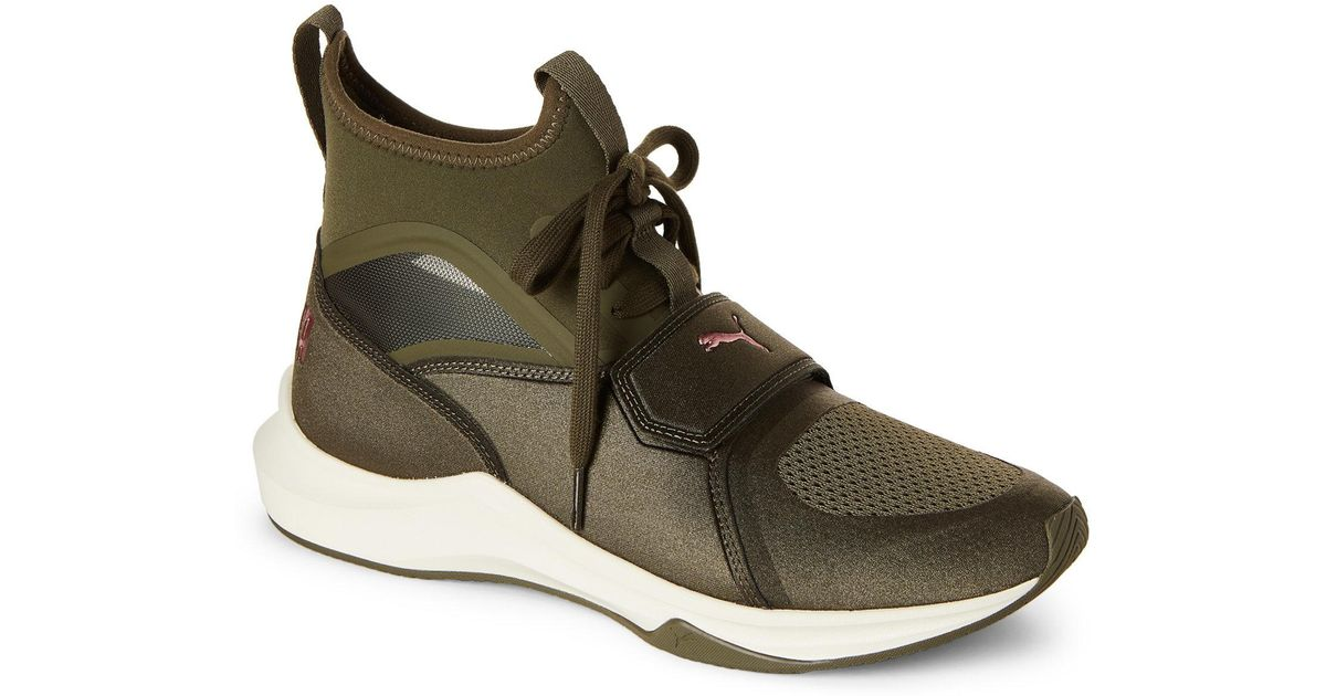 9b3eef21e43 Lyst - PUMA Olive Night   Whisper Phenom Training Sneakers in Green