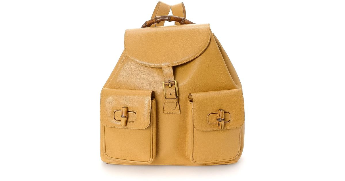 a2e6c432f263 Lyst - Gucci Bamboo Backpack - Vintage