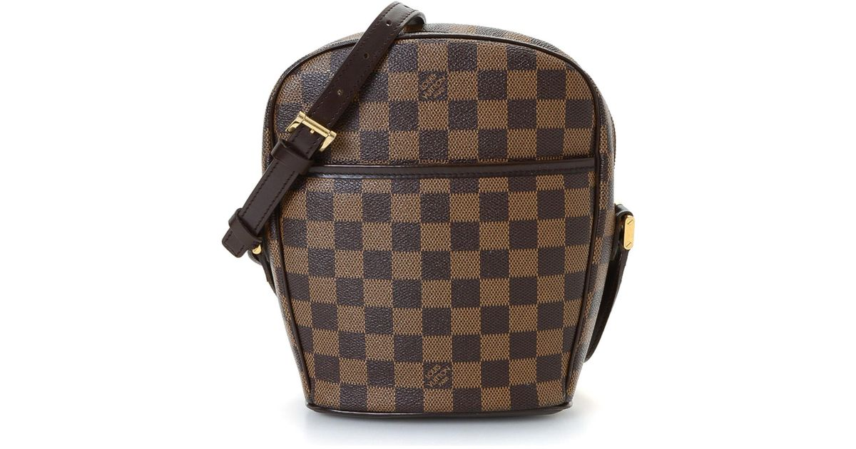 6a51fc95183c Lyst - Louis Vuitton Damier Ebene Ipanema Pm Crossbody - Vintage in Brown