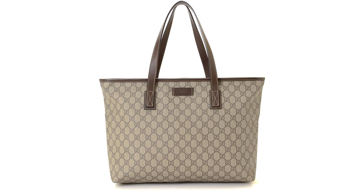 404bf4b20084 Lyst - Gucci Supreme Tote - Vintage in Natural