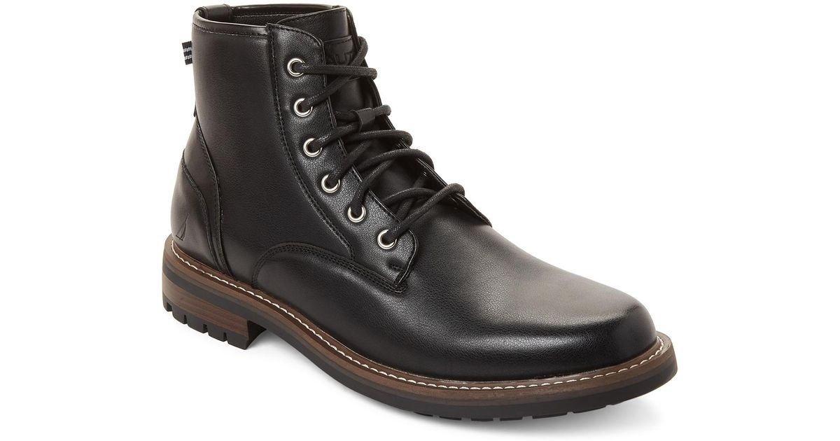 Lyst - Nautica Black Thurlow Lace-up Boots in Black for Men 2b2353786