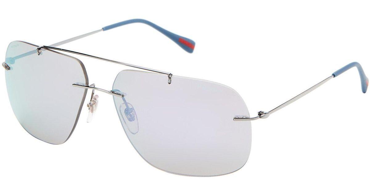 8ec809a4f95 ... reduced lyst prada sport sps 55p navigator sunglasses for men 30f61  a3317
