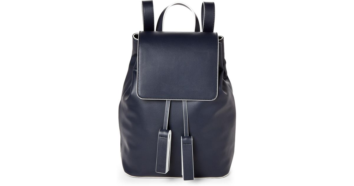 f11fc995dd0 Lyst - French Connection Utility Blue Vale Faux Leather Backpack in Blue