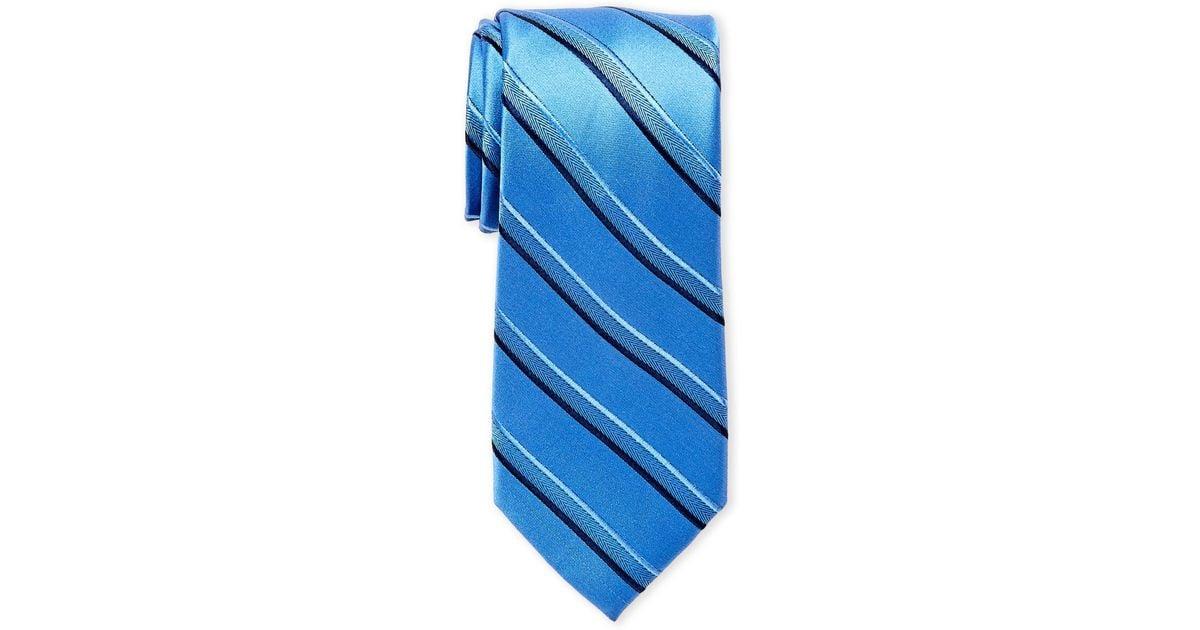 05b355940e08 Lyst - MICHAEL Michael Kors Silk Striped Tie in Blue for Men