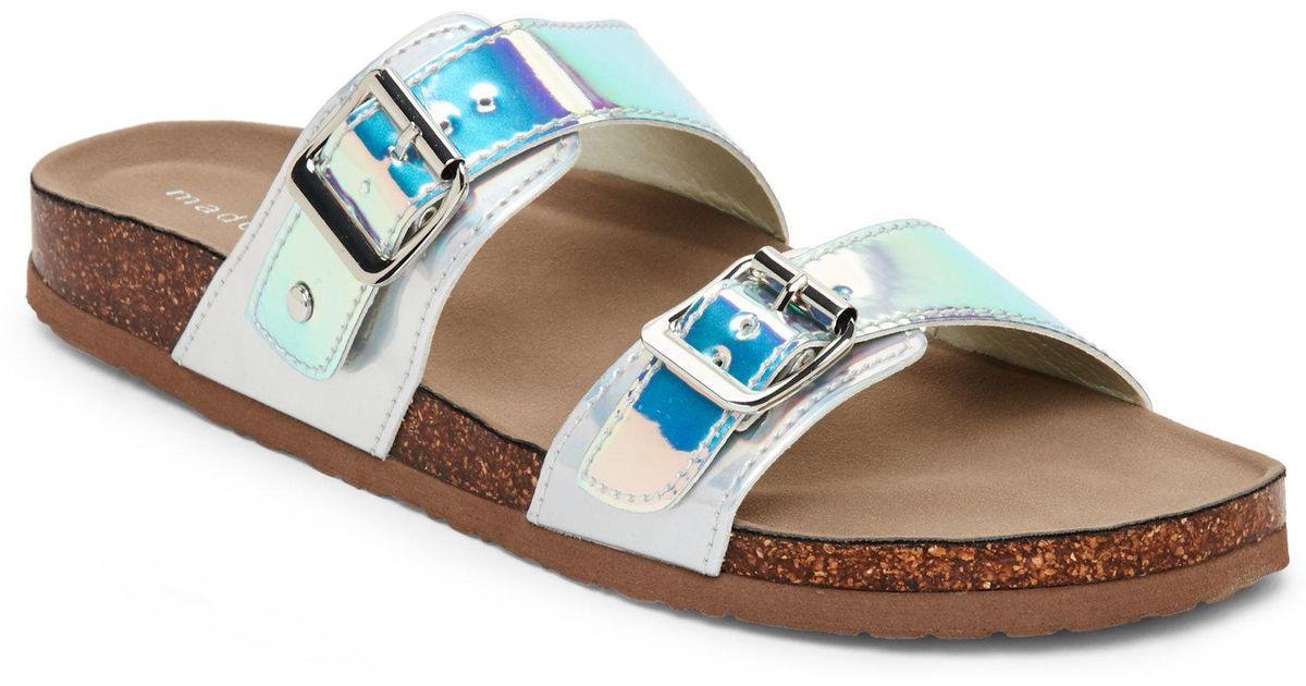 79158f81c10f6a Madden Girl - Multicolor Iridescent Brando Footbed Sandals - Lyst