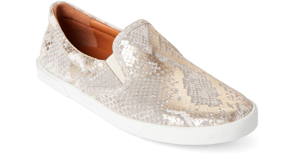 28fefccb87d Lyst - Jimmy Choo Light Khaki Demi Snakeskin-effect Slip-on Sneakers in  Natural