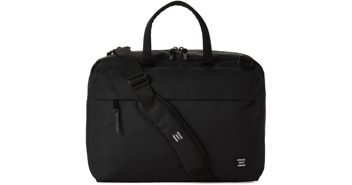 5b840121406 Lyst - Herschel Supply Co. Black Sandford Laptop Messenger in Black