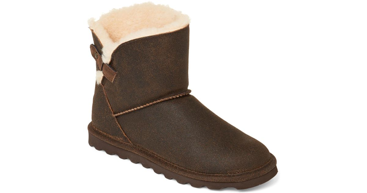 b7883b4c2e8 BEARPAW - Brown Chestnut Margaery Real Fur & Suede Boots - Lyst