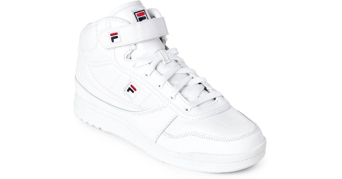 fdd8b25f2590 ... Lyst - Fila White Bbn 86 High Top Sneakers in White for Men ...