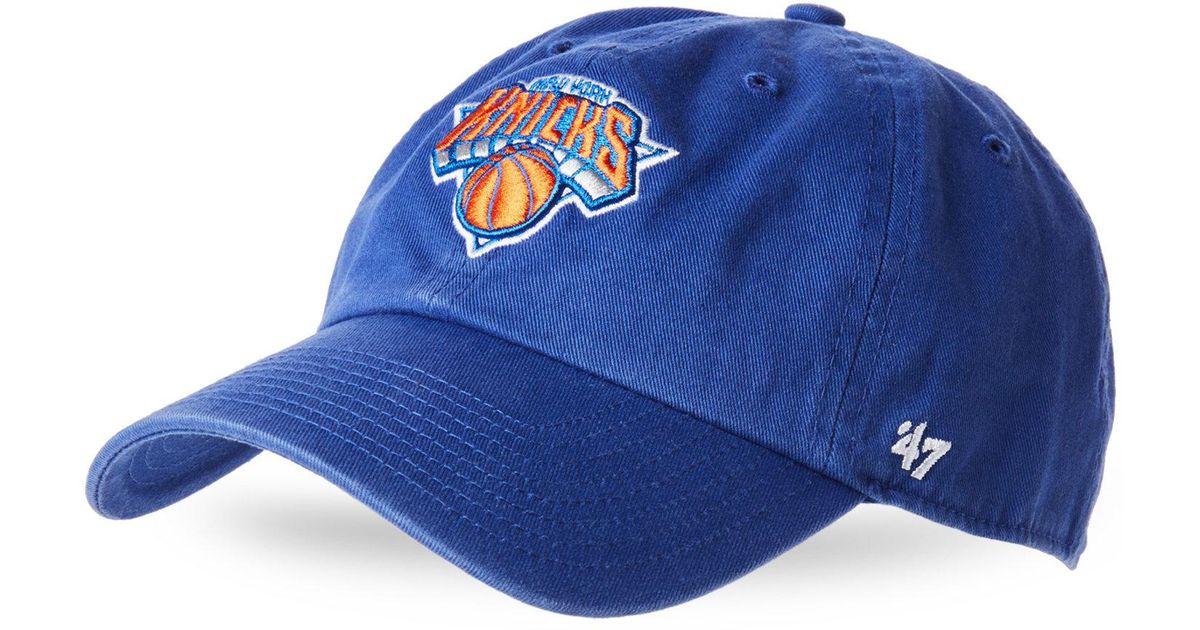 Lyst - 47 Brand Royal Blue New York Knicks Baseball Cap in Blue for Men a7d160e5398