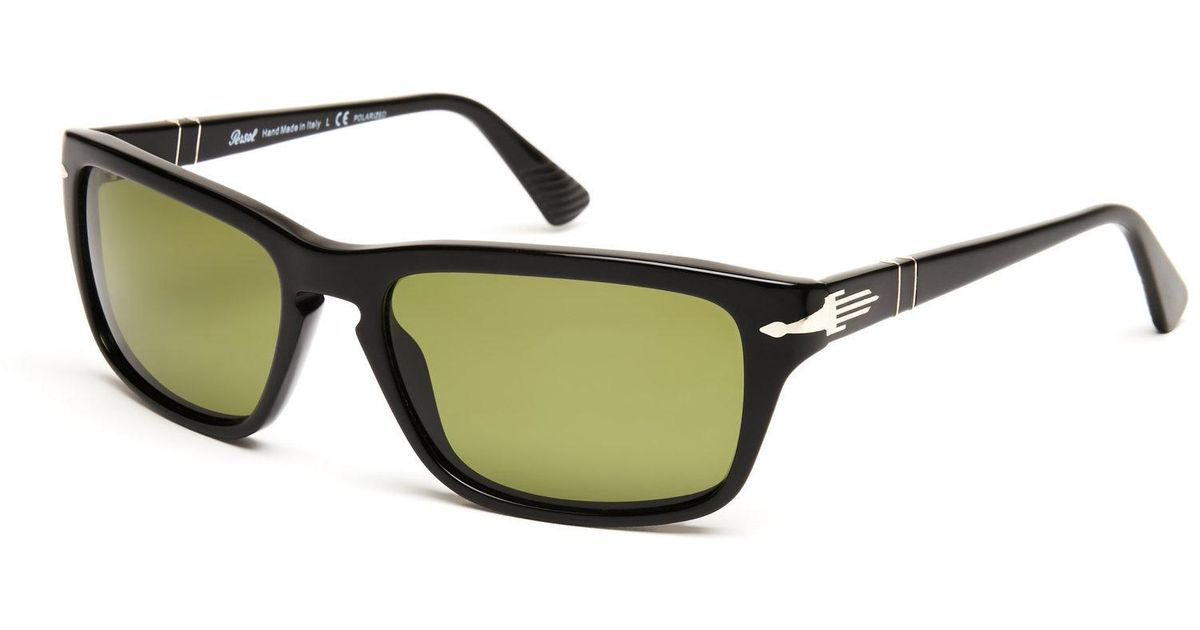 7d166ebffa206 Lyst - Persol Film Noir Edition Po3074-S Rectangle Polarized Sunglasses in  Green for Men