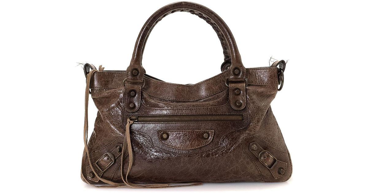 ecca1e43b8a63 Lyst - Balenciaga Arena First Bag - Vintage in Brown