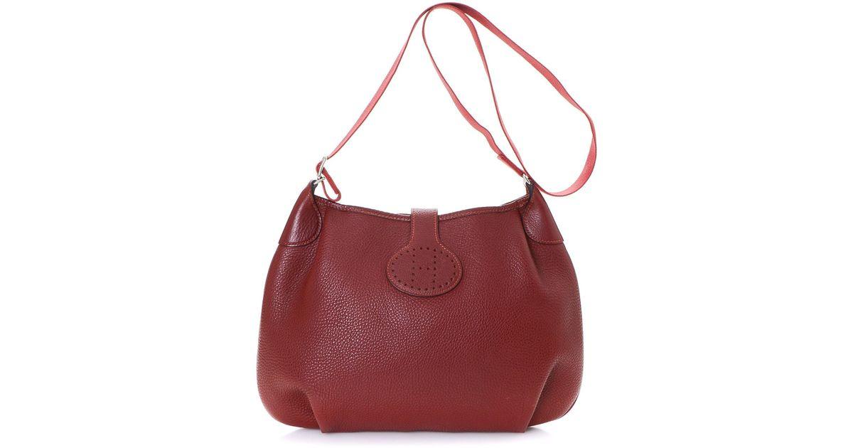 d93f910f3587 Lyst - Hermès Shoulder Bag - Vintage in Red