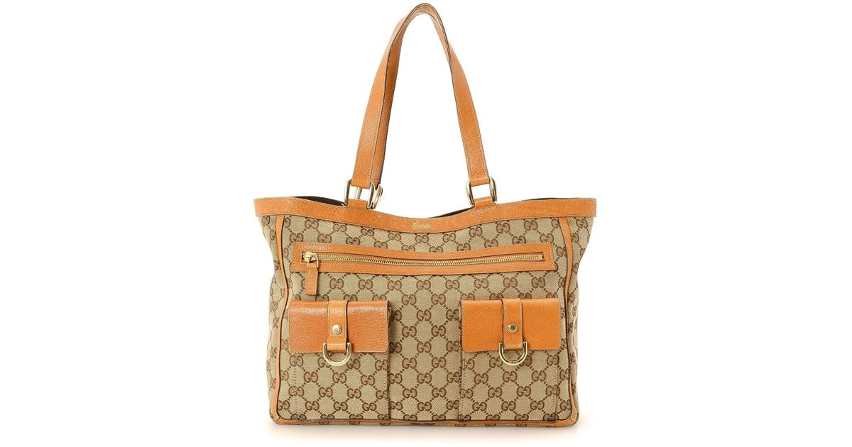 6c15dd51a09b Gucci Abbey Tote Bag - Vintage in Natural - Lyst
