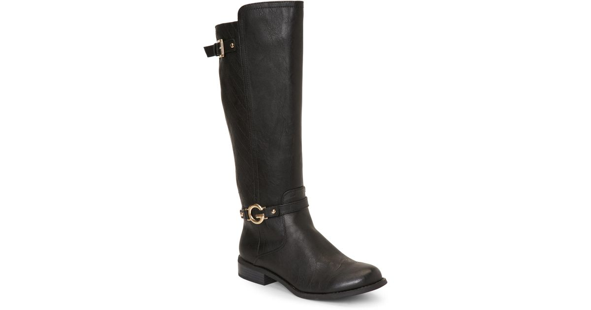Lyst G By Guess Black Hinnder Riding Boots In Black