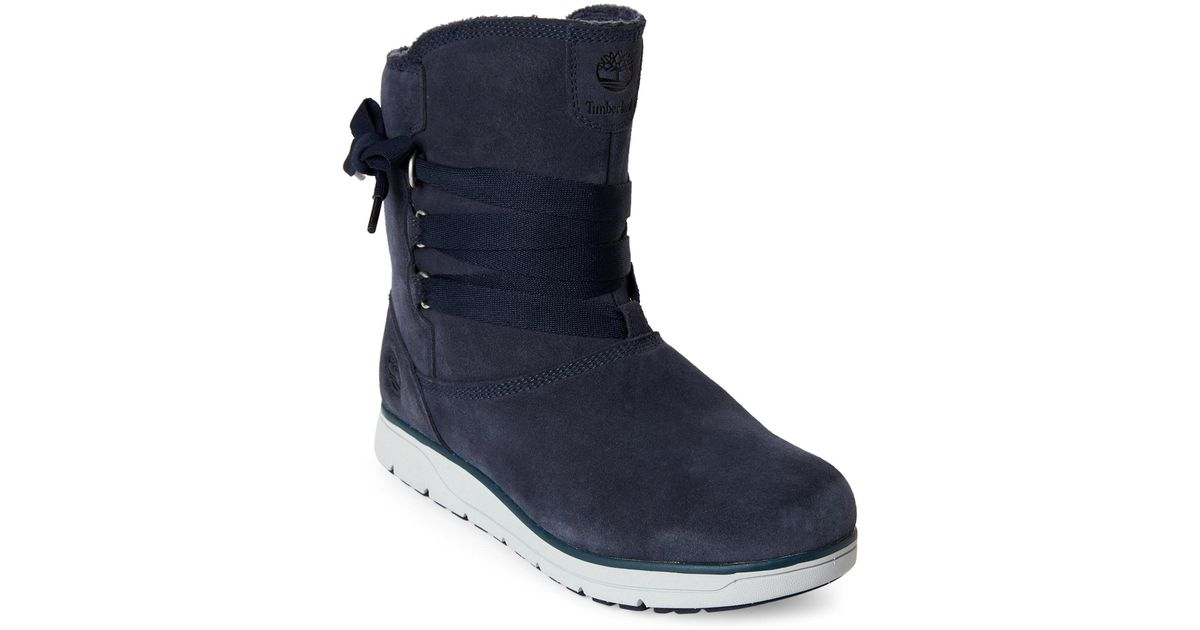 Lyst - Timberland Outerspace Navy Leighland Pull-on Boots in Blue d1b1ac13342f
