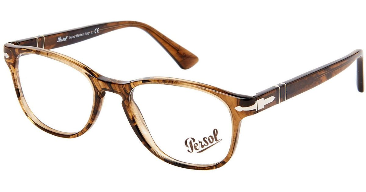 Lyst - Persol Po3085 Light Brown Oval Optical Frames in Brown
