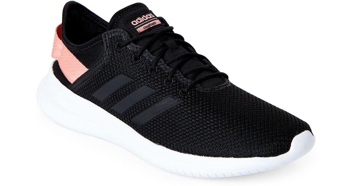 Lyst adidas bianco & nero correndo neo - qt flex correndo nero le scarpe da ginnastica in nero e45d6e